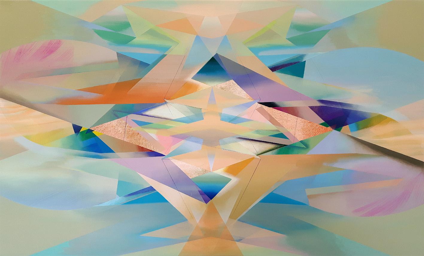 ALEA, Acryl, Pigment und Öl auf Leinwand, 80 x 130 cm