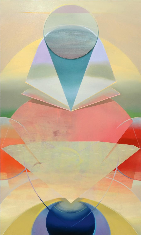 CACAMA, Acryl, Pigment und Öl auf Leinwand, 200 x 120 cm