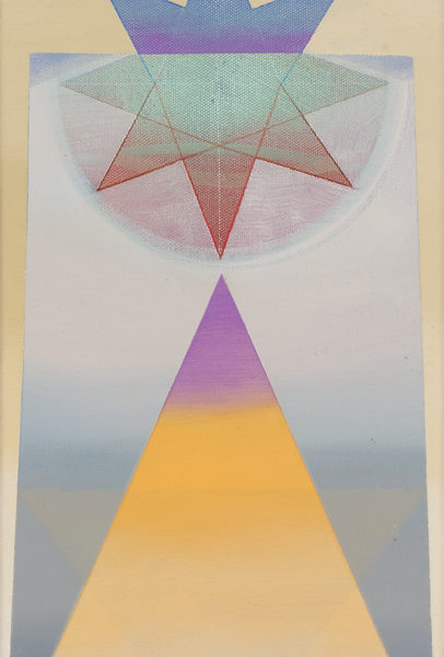 CORONA, Acryl, Pigment und Öl auf Leinwand, 50 x 25 cm