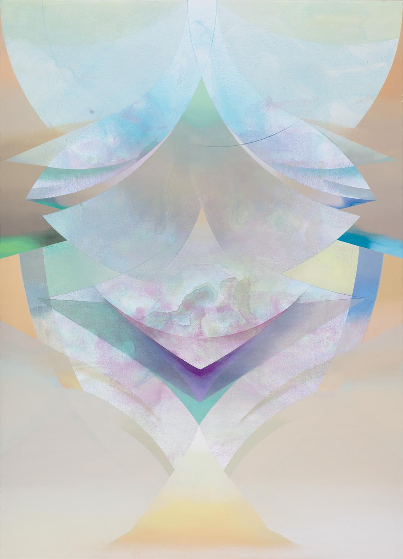 ESSURU, Acryl, Pigment und Öl auf Leinwand, 140 x 102 cm