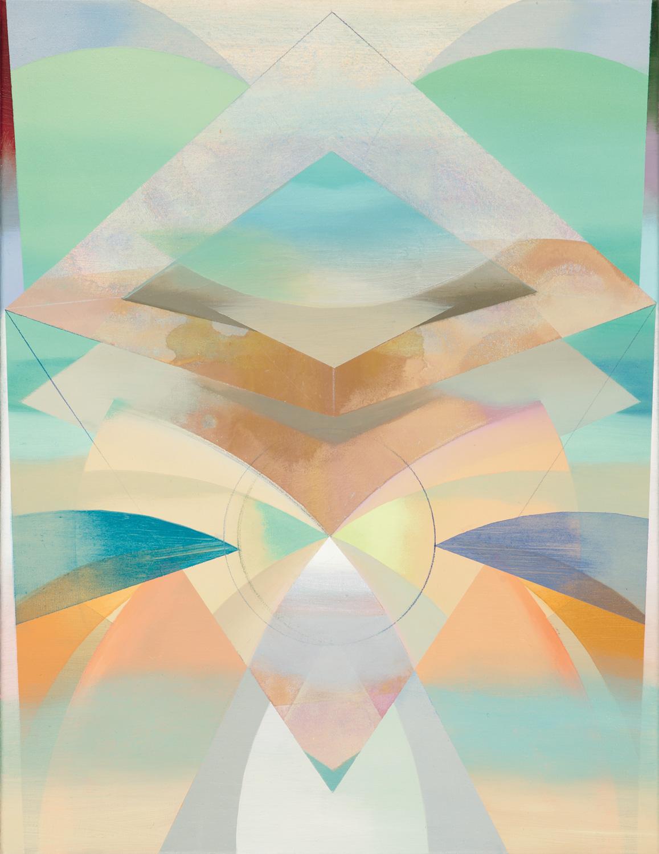 GANADOR, Acryl, Pigment und Öl auf Leinwand, 70 x 55 cm