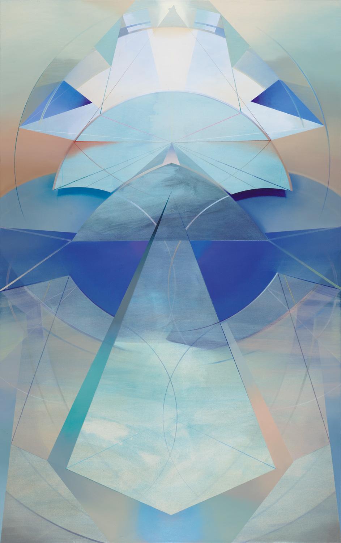 INANNA, Acryl, Pigment und Öl auf Leinwand, 190 x 120 cm