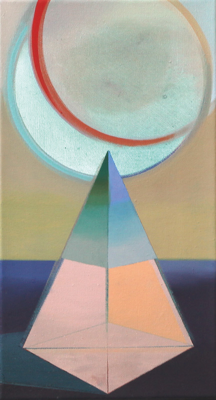 LA LUNA VERDE, Acryl, Pigment und Öl auf Leinwand, 46 x 25 cm