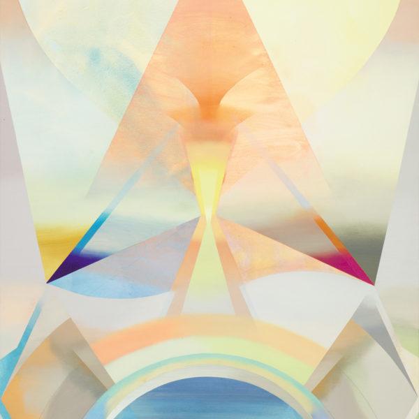 MAAT, Acryl, Pigment und Öl auf Leinwand, 160 x 111 cm