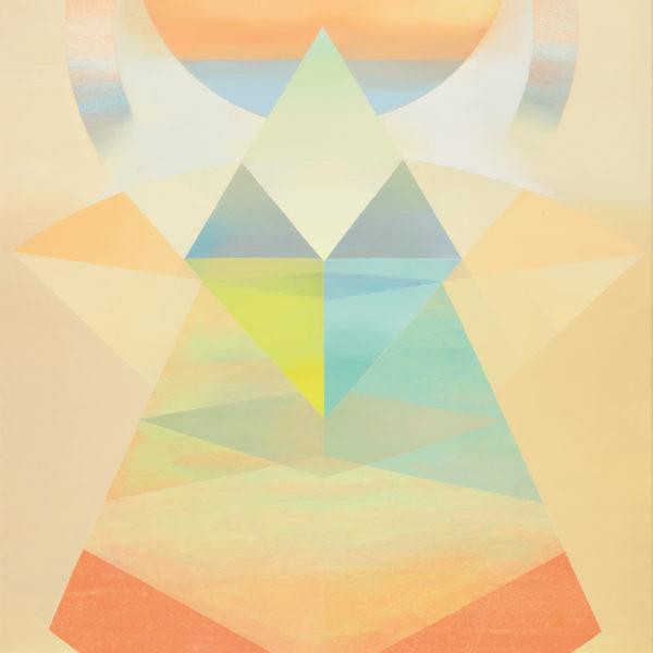 MAGIA, 2018, Acryl, Pigment und Öl auf Leinwand, 119 x 100 cm