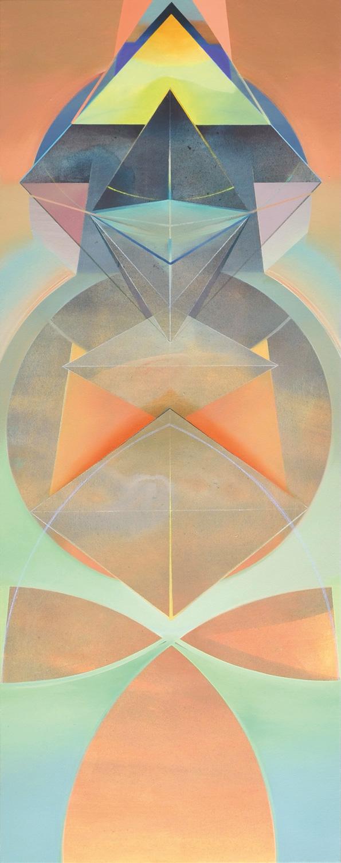 NANSHE, Acryl, Pigment und Öl auf Leinwand, 190 x 75 cm