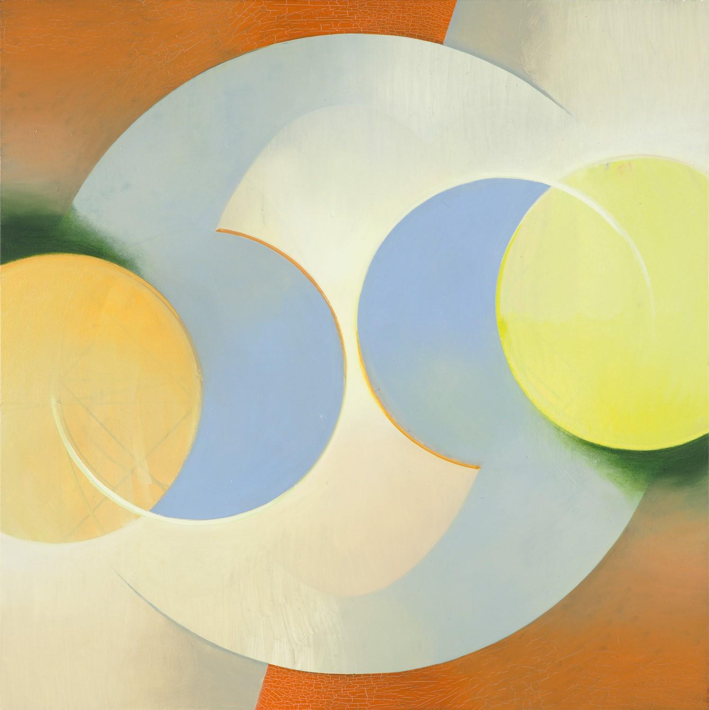 ORBIS, Acryl, Pigment und Öl auf Leinwand, 109 x 109 cm