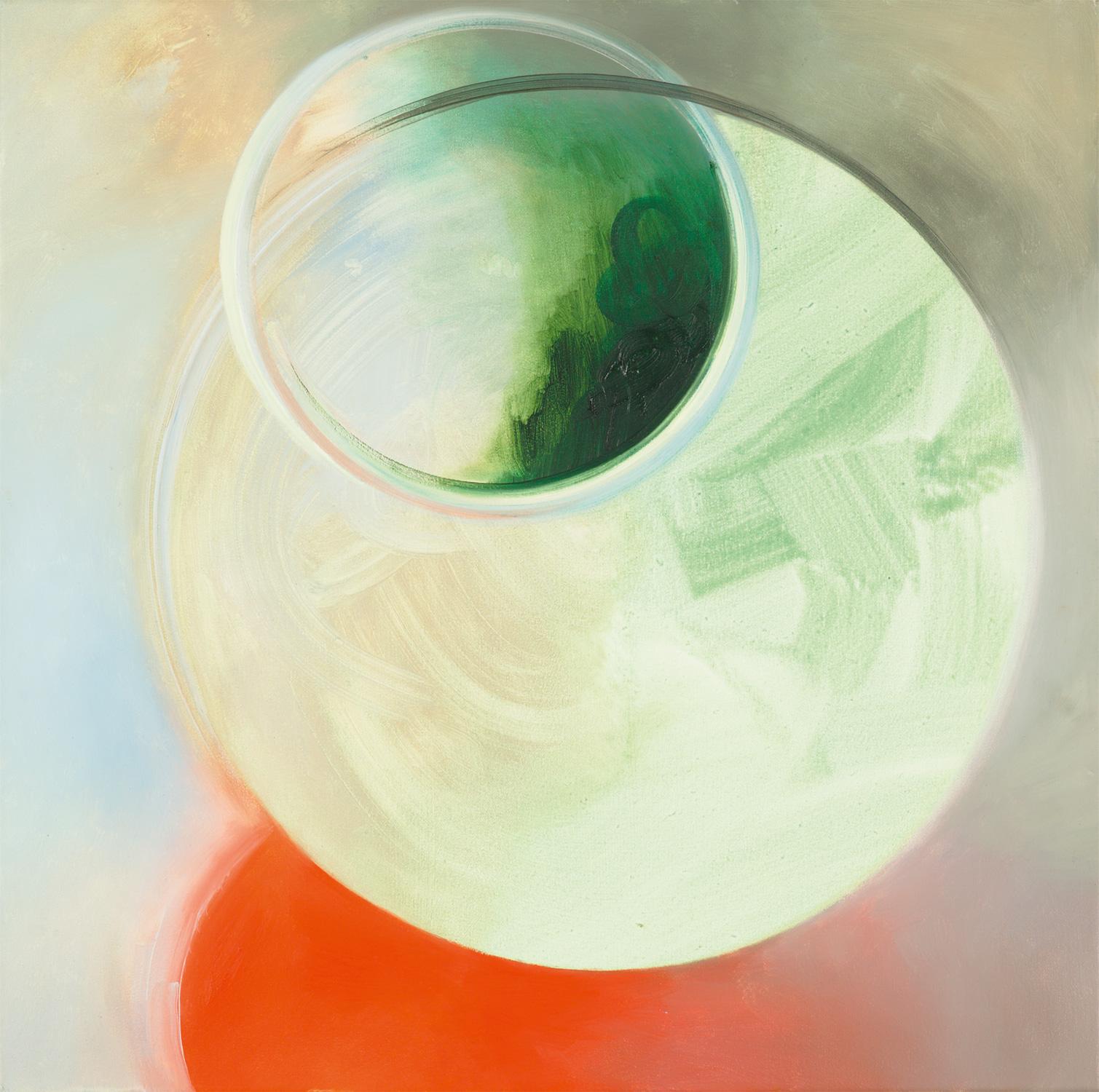 PARVULUS, Pigment und Öl auf Leinwand, 60 x 60 cm