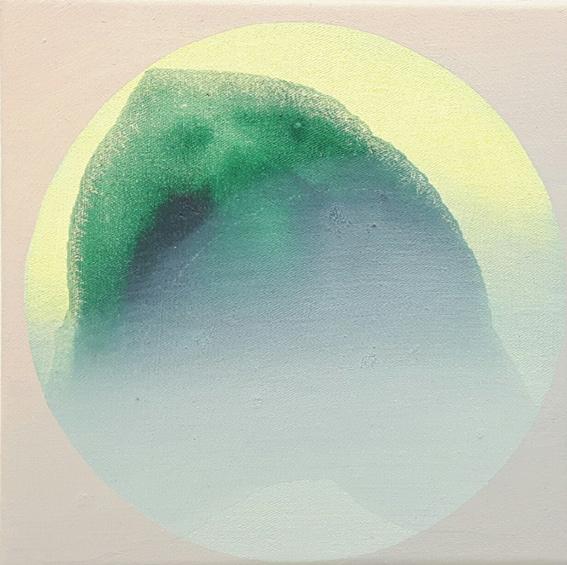 PILA I, Acryl, Pigment und Öl auf Leinwand, 20 x 20 cm