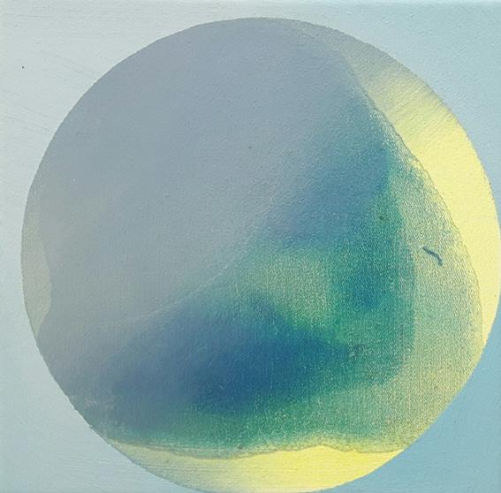 PILA II, Acryl, Pigment und Öl auf Leinwand, 20 x 20 cm
