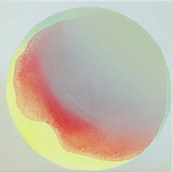 PILA III, Acryl, Pigment und Öl auf Leinwand, 20 x 20 cm