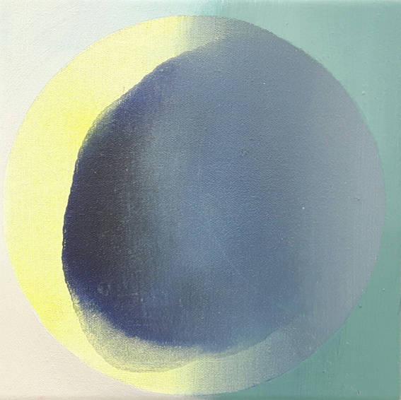 PILA V, Acryl, Pigment und Öl auf Leinwand, 20 x 20 cm