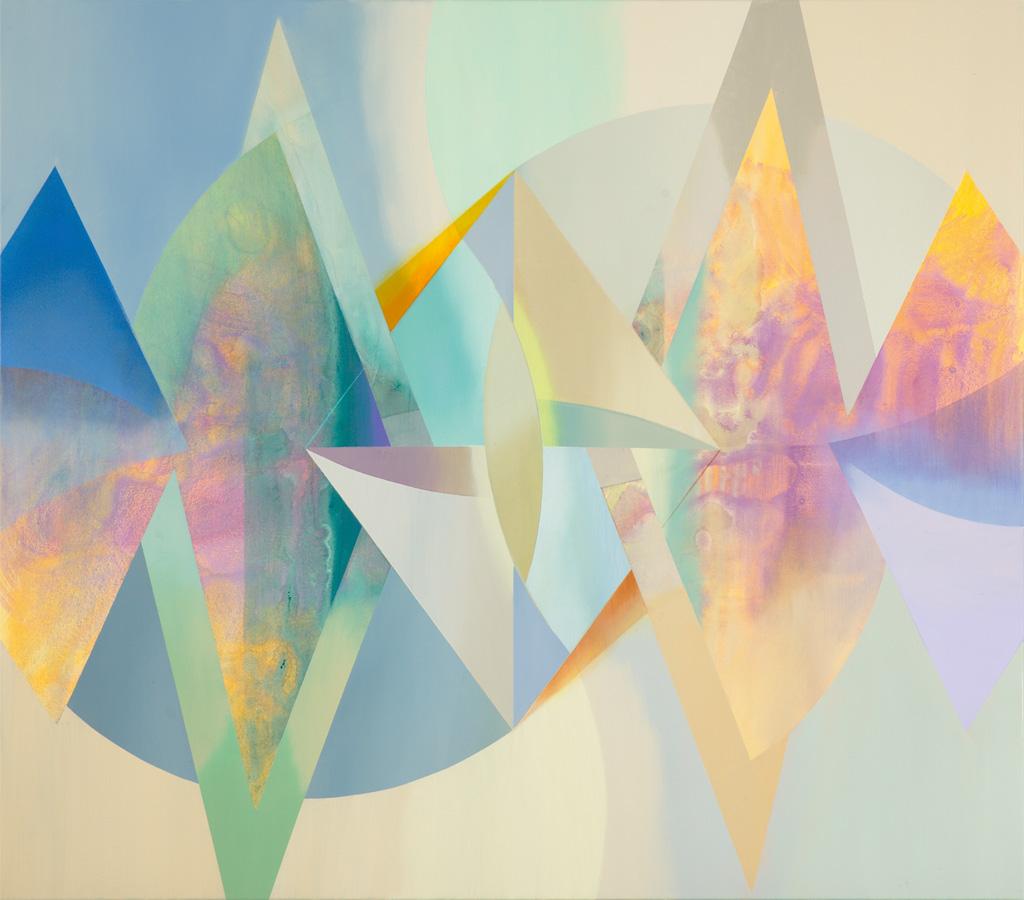 RIÓ, Acryl, Pigment und Öl auf Leinwand, 105 x 120 cm
