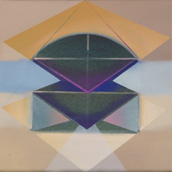 SINA, Acryl, Pigment und Öl auf Leinwand, 30 x 30 cm