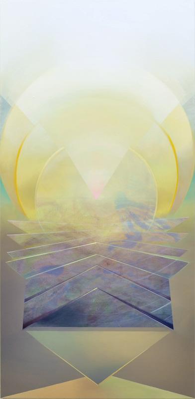 ELU, Acryl, Pigment und Öl auf Leinwand, 180 x 87 cm