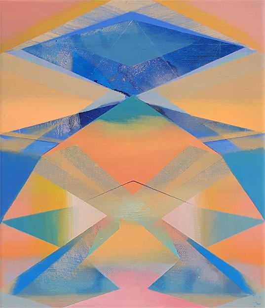 Acryl, Pigment und Öl auf Leinwand, 30 x 27 cm