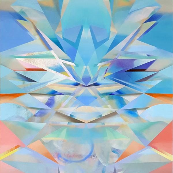 IYA, Acryl, Pigment und Öl auf Leinwand, 180 x 117 cm