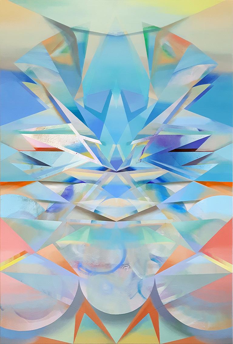 IYA, Acryl, Pigment und Öl auf Leinwand, 170 x 117 cm
