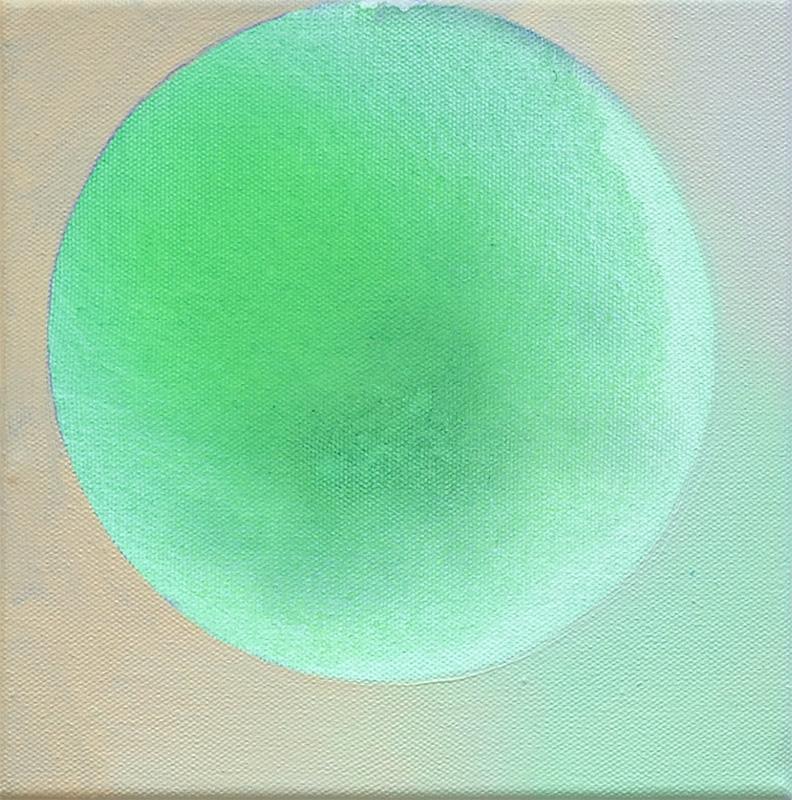 JOY, Acryl Pigment und Öl auf Leinwand, 25 x 25 cm