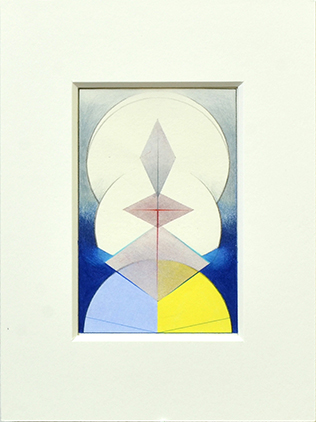 LAPIS, 2017, Acryl, Pigment und Aquarellstift auf Papier, 14 x 9 cm