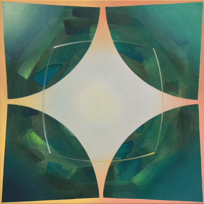 NAPAHU, Acryl, Pigment und Öl auf Leinwand, 70 x 70 cm