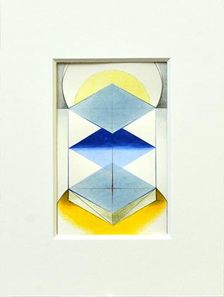 PORTAM III, 2017, Acryl, Pigment und Aquarellstift auf Papier, 14 x 9 cm