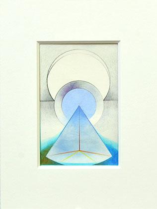 PORTAM II, 2017, Acryl, Pigment und Aquarellstift auf Papier, 14 x 9 cm