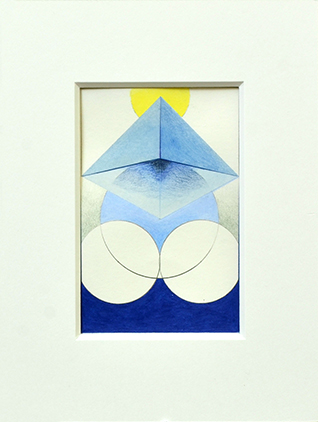 PORTAM IV, 2017, Acryl, Pigment und Aquarellstift auf Papier, 14 x 9 cm