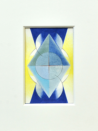 PORTAM I, 2017, Acryl, Pigment und Aquarellstift auf Papier, 14 x 9 cm