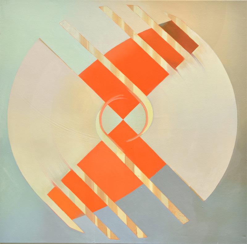 TURBO, Acryl, Pigment und Öl auf Leinwand, 85 x 85 cm