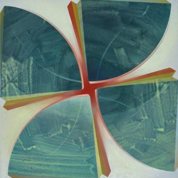 UNIVERSE IS A FLOWER, Acryl, Pigment und Öl auf Leinwand, 75 x 75 cm
