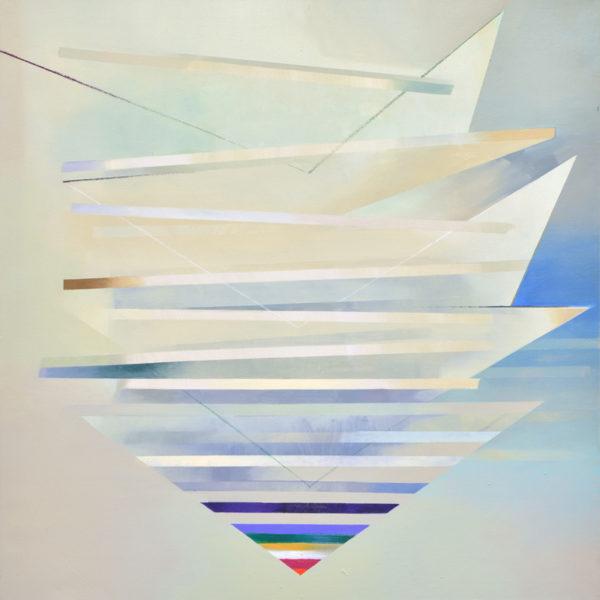 Voluntas, Pigment und Öl auf Leinwand, 109 x 109 cm