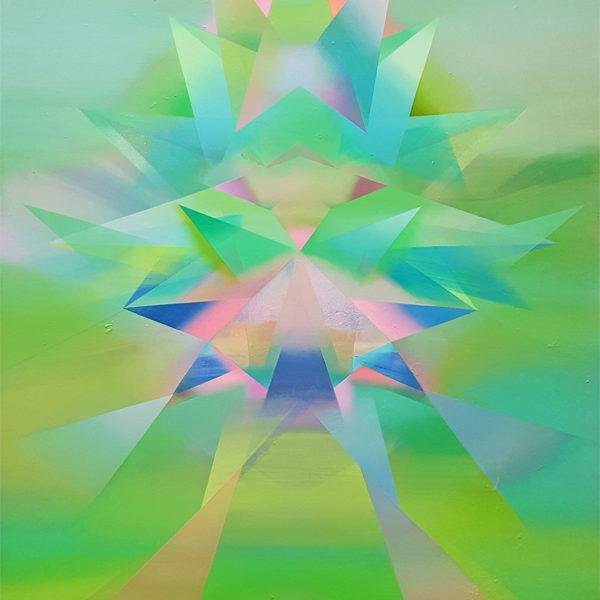 EANNA, Acryl, Tusche, Pigment und Öl auf Leinwand, 110 x 90 cm
